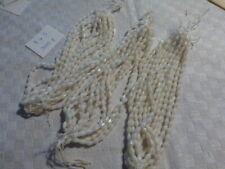 échev lot  900 perle ancienne en verre blanc ivoire fuseau toupie 7 X 5  mm