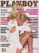 PLAYBOY JANUARY 1996 Pamela Anderson Victoria Fuller Johnny Depp Robin Quivers