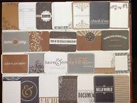 We R Memory Keepers JOURNALING Pads~3 x 4~Several Varieties~D//S~Georgeous!