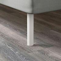 "Set of 4 IKEA Bjorli 3 7/8"" White Steel Bed Risers Legs 502.996.96 Metal Frame"