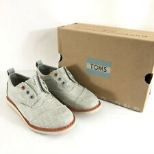 Toms Toddler Boys Brogue Oxford Slip On Canvas Shoes Gray Size 11