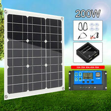 30W/100W/200W Solar Panel Flexible Off Grid Battery Charger for RV Boat Camper