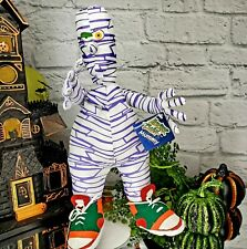 Vintage MONSTER BASH MUMMY 1997 in Sneakers Stuffed Doll Goth Halloween *NOS