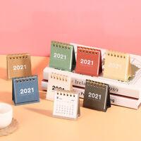 Mini Desk Calendar DIY  2021 Table Calendars Daily Schedule Planner Calender A8A