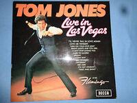 TOM JONES live in Las Vegas TOM JONES 1969 -Gebrauchte Schallplatte Vinyl LP