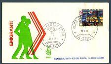 ITALIA REP. - 1975 - Emigrazione italiana nel mondo su FDC Venetia