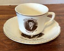 Vintage Enco Views Of America Will Rogers Memorial Claremore OK Cup & Saucer