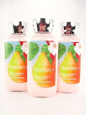 Bath Body Works 3 Pearberry Lotion Hand and Body 8oz with Shea and Vitamin E