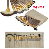 Professional Cosmetic Tool Soft Eyebrow Shadow Makeup Brush Set Kit Bag Case