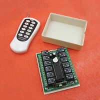 12v 12CH relay wireless RF Remote Control Switch Transmitter + Receiver