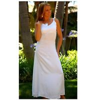 White Sequined Long Summer Dress in Small