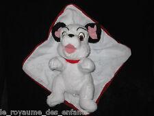 Doudou Peluche Chien Dalmatien blanc noir rouge Nicotoy Disney couverture 25 cm