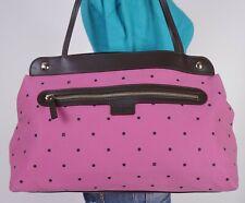KATE SPADE Med To Lrg Pink Brown Leather Shoulder Hobo Tote Satchel Purse Bag