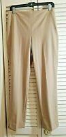 Talbots Khaki Hollywood fit side zip classic dress Tapered leg pants Sz 8P