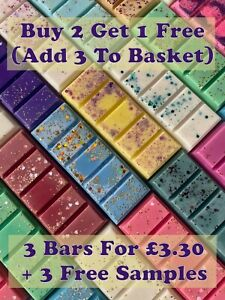 Buy 2 Get 1 Free (ADD 3 TO BASKET) Luxury Wax Melt Snap Bar