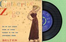 CATHERINE ZAGO / On ne sait jamais / BELTER 50.029 Press Spain 1957 EP VG