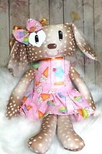 Girl Dog Rag Doll Stuffed Hand Made in Usa Yarn hair Painted face 20inch