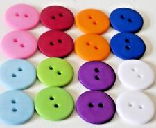 16 x 18mm Resin Sewing Buttons 2 Holes Round 2 each of 8 differant mixed colours
