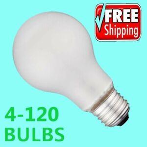Incandescent Light Bulbs 100 Watt 1000 Lumens A19 Soft White - 4-120 Pack