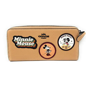 Coach Minnie Mouse Patch Leather Wallet, Beechwood