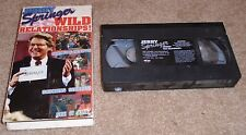 JERRY SPRINGER WILD RELATIONSHIPS VHS 1998 Talk Show Television
