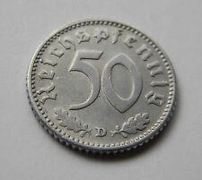 DRITTES REICH: 50 Reichspfennig 1941 D, J. 372, prägefrisch/unc. !!!