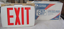 Lithonia Lighting Led Exit Sign With Battery new in box W/ Extra Face Plate