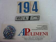 "345/L FREGIO-LOGO-SIGLA-SCRITTA (BADGE) LATERALE SX FIAT RITMO  ""60 L"""