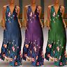 ZANZEA Women's Low Cut Long Maxi Dress Evening Party Cocktail Shirt Dress Plus