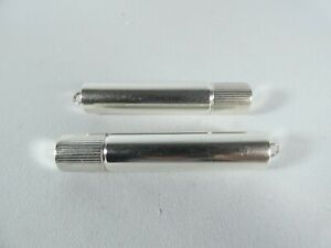Antique Vintage Pair of Towle American Sterling Silver Lipstick Cases Chatelaine