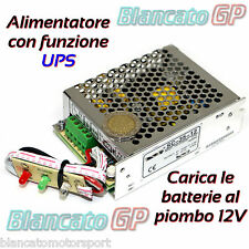 ALIMENTATORE UPS BUFFER  13,8V CON PANNELLO LED 35W 2A backup GRUPPO CONTINUITÀ