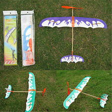 Practical DIY Airplane Aircraft Model Powered by Rubber Band Toys 1pc A
