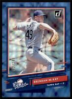 2020 Donruss The Rookies Blue #R-7 Brendan McKay /249 - Tampa Bay Rays