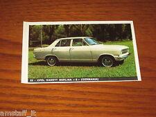 OPEL KADETT BERLINA S=FIGURINA=1965/66=ALBUM FIGURINE AUTOMOBILI D'OGGI