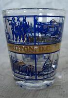 Collectible WASHINGTON D.C.Shot Glass - Cobalt Blue & 22K Gold Trimmed