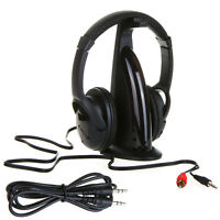 5 in 1 HIFI Wireless headphone Earphone Headset wireless Monitor FM radio Black