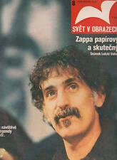 FRANK ZAPPA PAULA ABDUL rare Cz Magazine