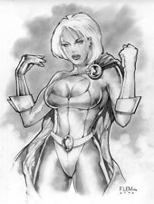 SEXY SIGNED POWER GIRL PRINT- Tom FLEMing
