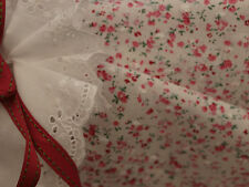 Pink Tiny Floral Dotted Swiss/Clipped Spot Cotton Voile Fabric -140cm x 1/2 mtr