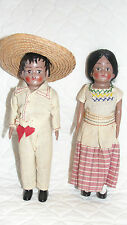 Vintage Pair of Mexican Dolls 1950's Pristine Condition