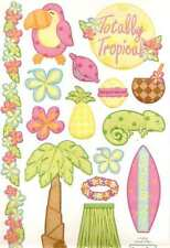 TOTALLY TROPICAL Embossed Scrapbook Stickers and Border