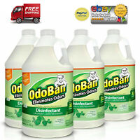 4 PACKS OdoBan Odor Eliminator and Disinfectant Concentrate, Eucalyptus Scent