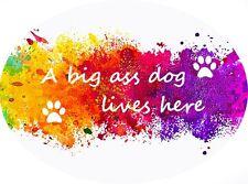 "MDF door sign/plaque ""A big ass dog lives here"" Gift idea"