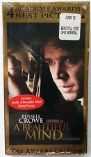 A Beautiful Mind Brand New Sealed VHS Awards Edition Russell Crowe Bonus Feature