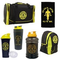 Gold's Gym Bodybuilding Accessories | Protein Shakers Water Bottles Towels Bags