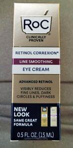 RoC Retinol Correxion Line Smoothing Eye Cream - 0.5 oz Brand New/Sealed