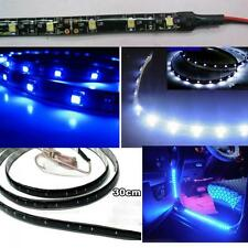 Waterproof Motor Vehicle 15 LED Strip Light Blue 12V 30cm