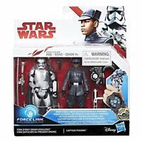 "Star Wars Last Jedi Force Link First Order Finn & Captain Phasma 3.75"""