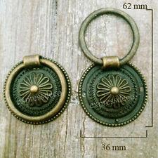 lot de 5 anneaux tombants + 10 vis meuble porte en fer poignee louis xvi anneau