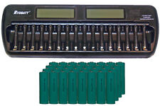 16 Bay AA / AAA LCD Battery Charger + 32-Pack AA 2700 mAh NiMH Batteries